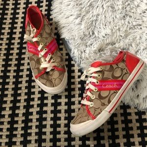 coach folly sneaker red/pink 7.5